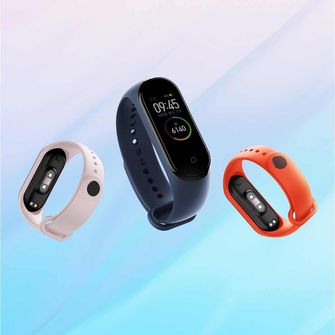 Strap Für Xiaomi Mi Band 5 4 3 Silikon Armband Armband Ersatz Für Xiaomi Band 4 MiBand 5 4 3 handgelenk Farbe TPU Gurt