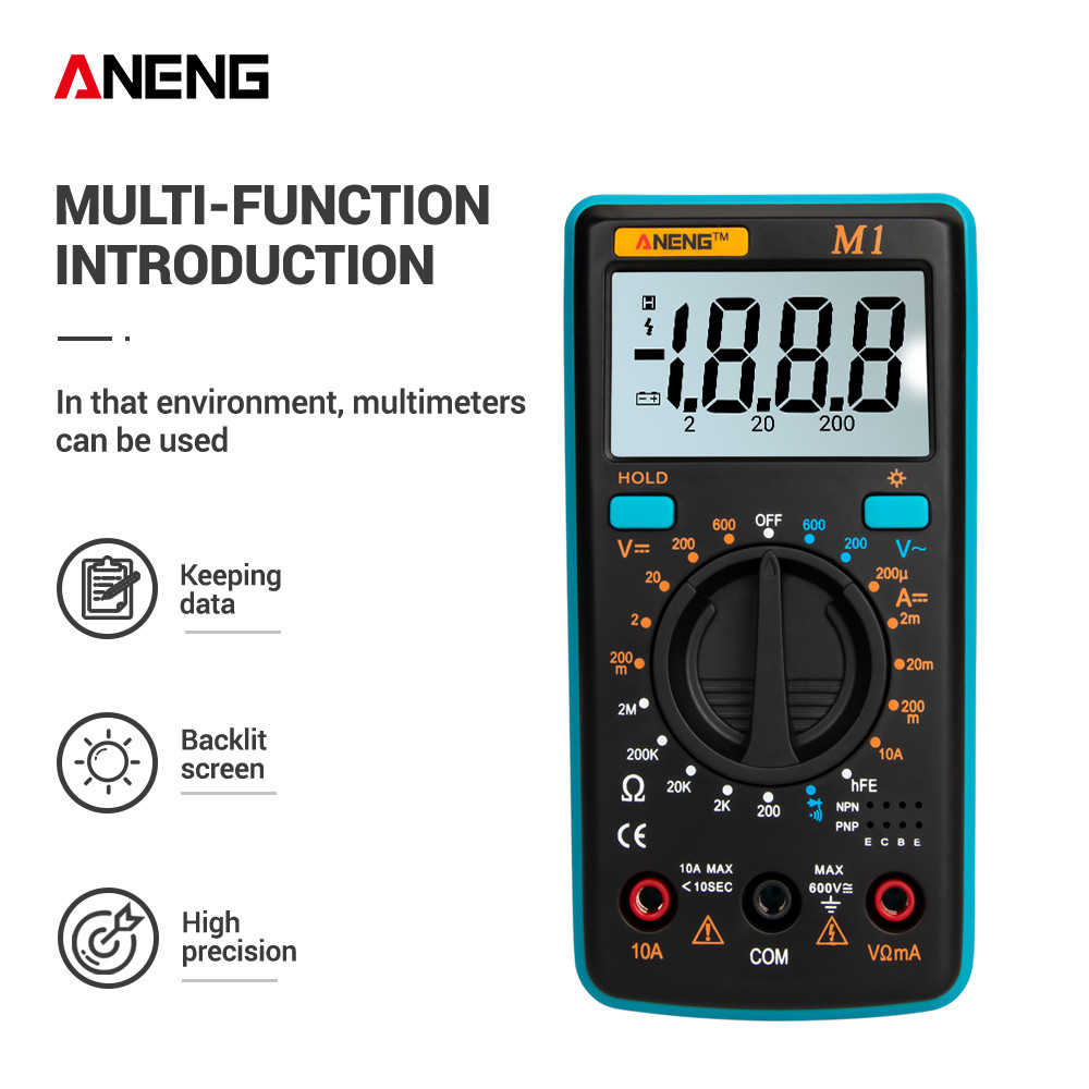 ANENG M1 DIY Digital Multimeter Meter Amp Multimetro Tester True Rms Digital Multimeter Penguji Multi Meter Richmeters Dmm 400a