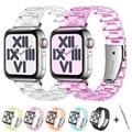 Ремешок полимерный для apple Watch 6 5 4 band 42 мм 38 мм, прозрачный стальной браслет для iwatch 6 series 5 4 3/2, 44 мм 40 мм