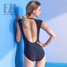 July Sand сексуальный черный цельный Однотонный женский купальник пляжная одежда 18W163
