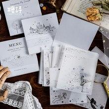 30 unids/lote Vintage Bloc de notas papel de ácido sulfúrico Fondo translúcido Bloc de notas papelería creativa útiles escolares para estudiantes