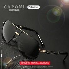 Caponi 2020 男性のサングラス偏光メガネブランドヴィンテージスクエア抗線紫外線保護日男性CP0960