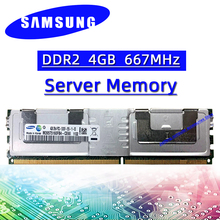 Ram pc2 5300f 667 8gb do ecc da memória do servidor de samsung ddr2 4gb B-DIMM mhz