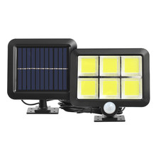 COB 120LED Solar Light Outdoor Motion Sensor Wall Light Waterproof Garden Lamp Emergency Pathway Yard Street Lamp Dropshipping
