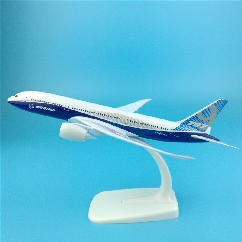 20cm Boeing 787-900 Prototype Airlines Metal Airplane Model Diecast Prototype B787-900 Decoration Custom Collectible Airplane image