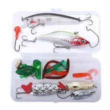 21Pcs Fishing Lures Set Mixed Minnow Plier Grip Spoon Hooks Soft Lure Kit In Box Artificial Bait Fishing Pesca(China)