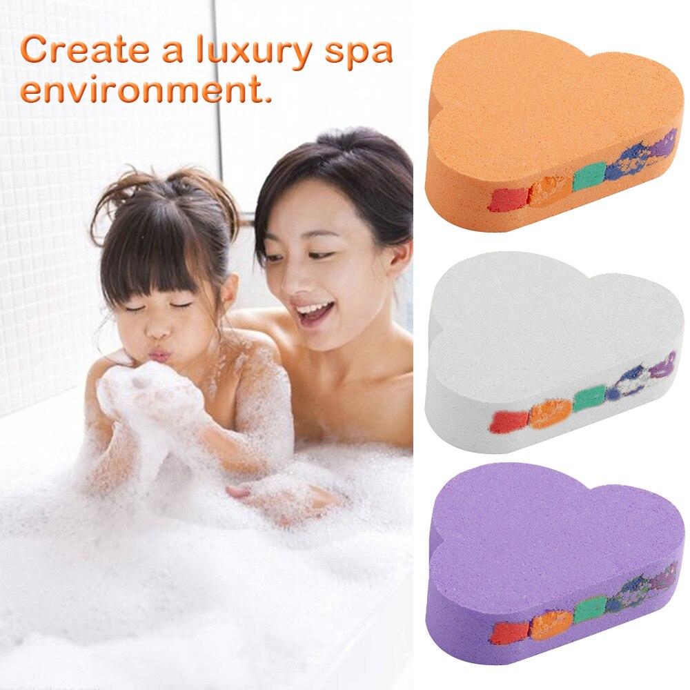 110g Rainbow Cloud Natural SPA Bath Salt Essential Oil Bomb For Moisturizes Dry Skin Bubble Massage SPA Handmade Bath Salt Bomb