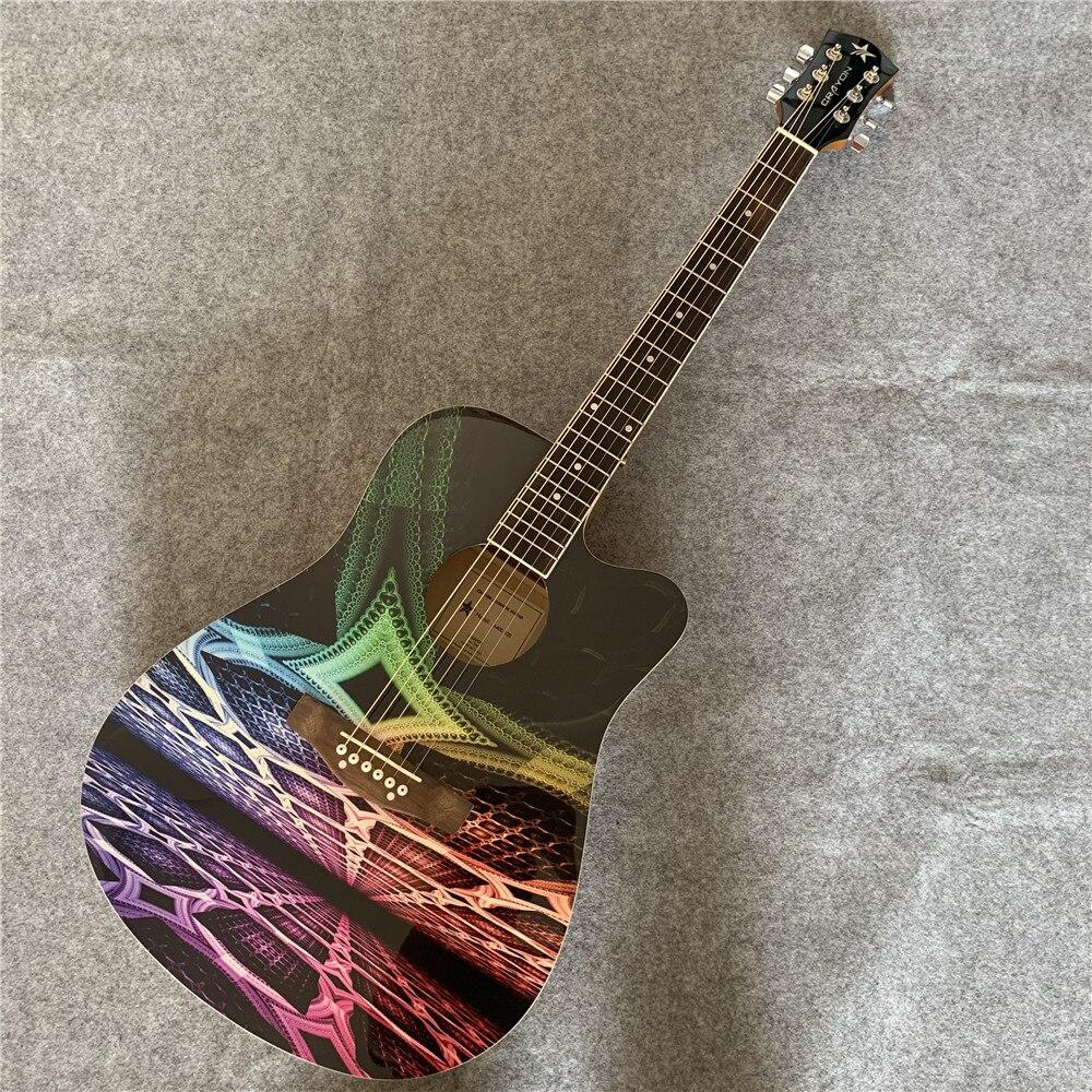 Guitare acoustique, guitare personnalisée, n'importe quelle photo peut être faite à la guitare. Guitare Folk personnalisée. Livraison gratuite.