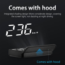 3.5 Polegada cabeça do carro hud up display obd2 mini m3 hud brisa digital projetor automático alarme de segurança eletrônico universal obd ii