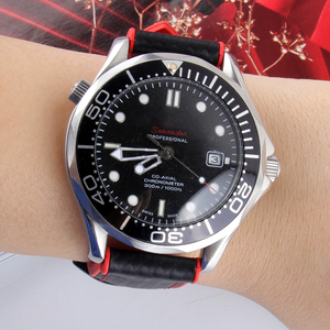 Image 5 - פחמן סיבי סיליקון להקת שעון 18mm 20mm 22mm 24mm WatchStrap רצועת השעון עבור אומגה גומי צמיד אבזר החגורה עמיד למים