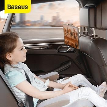 Soporte de teléfono trasero para asiento de coche Baseus, soporte para Tablet, teléfono, almohada trasera para coche, soporte para el reposacabezas, soporte de montaje para teléfono, tableta de 4,7-12,3 pulgadas