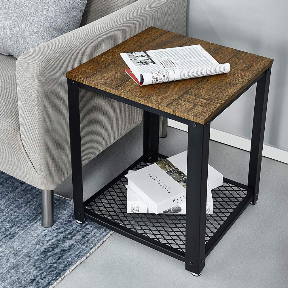 End Of Sofa Coffee Table Bedside Table Living Room Table Vintage Style Industrial Wooden Iron Metal Coffee Tables Home Furniture