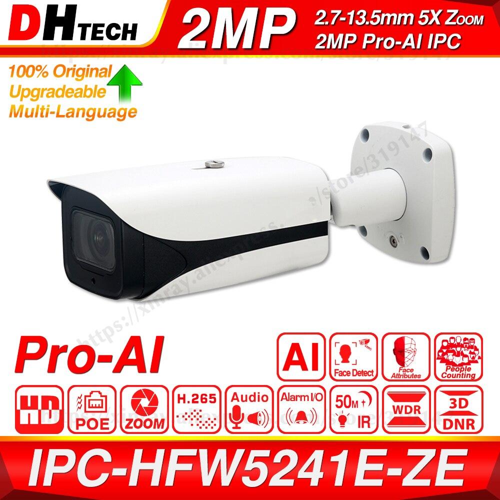 Dahua Original IPC-HFW5241E-ZE IPC-HFW5241E-Z12E Pro AI 5X 12X ZOOM POE SD Slot Alarm Aduio I/O H.265 IP67 IK10 50M IR IP Camera