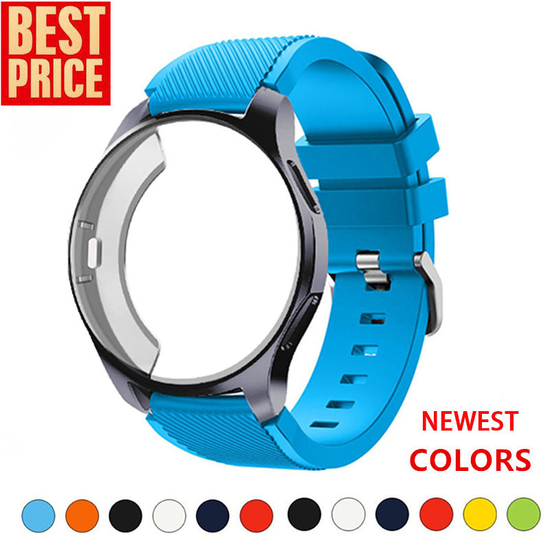 Silicone Case+band For Samsung Galaxy Watch 46mm/42mm Strap Gear S3 Frontier Band Sports Watchband+Protector Watch Case 42/46 Mm