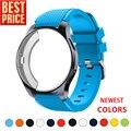 Силиконовый чехол и ремешок для Samsung Galaxy watch 46 мм/42 мм, ремешок для Gear S3 Frontier band, спортивный ремешок для наручных часов + защитный чехол для час...