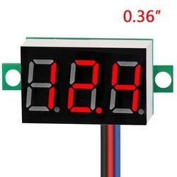 EAFC Mini 0.36 inch DC 0-100v 3 bits Digital Red LED Display Panel Voltage Meter Voltmeter tester