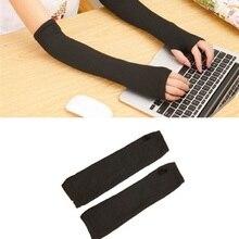 1 пара, осенне-зимние женские длинные гетры, вязаные однотонные Длинные вязаные перчатки без пальцев, аксессуары для одежды