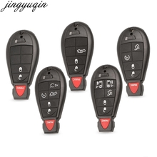 Jingyuqin Smart Remote Key Shell Fob Case For Jeep Grand Cherokee Chrysler 300 Town Country Dodge Challenger Charger Journey