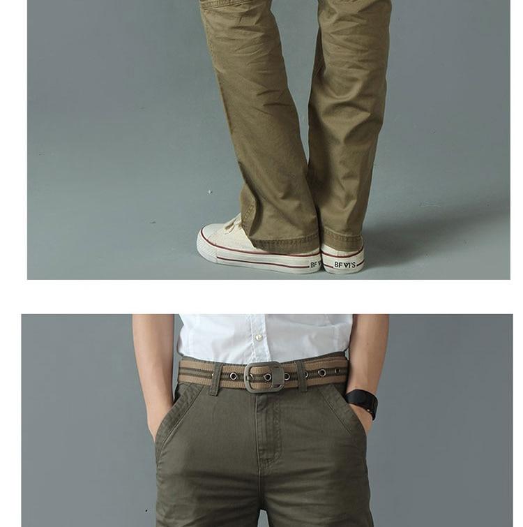 KSTUN New Men's Cargo Pants Casual Overalls 100% Cotton Straight Cut Male City Military Tactical Pants Men Loose Fit Trousers No Belt 15