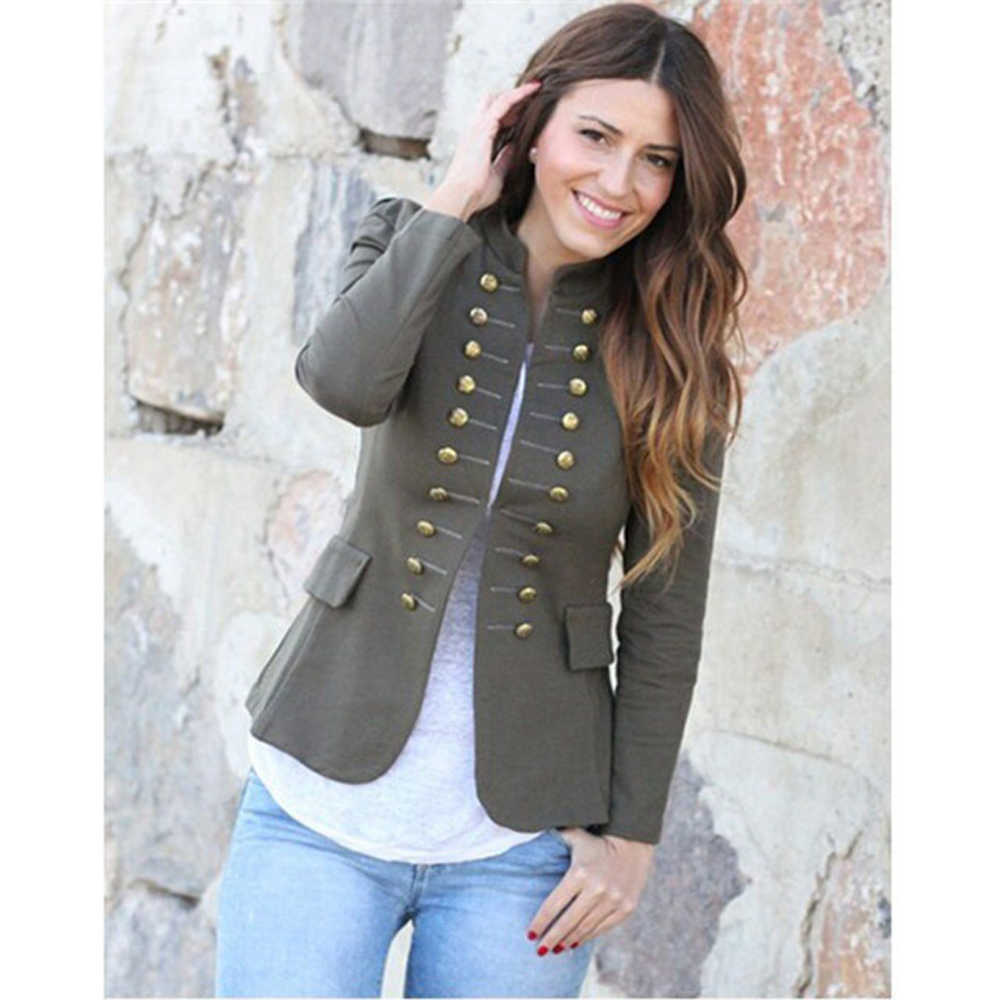 Wipalo 女性のジャケットコート 2019 秋のファッションショートコート高品質ダブルブレスト上着女性服プラスサイズ 5XL