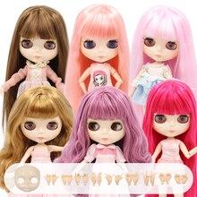 Buzlu DBS Blyth doll ortak vücut 30CM BJD oyuncaklar beyaz parlak yüz ekstra el yapimi AB ve faceplate 1/6 DIY moda bebek kız hediye