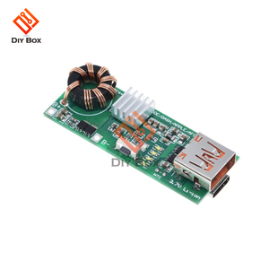 Image 2 - QC4.0 QC3.0 PD szybkie ładowanie USB pokładzie 3.7V do 5V 9V 4.5A 18W zwiększyć powerbank do telefonu moduł ładowarki