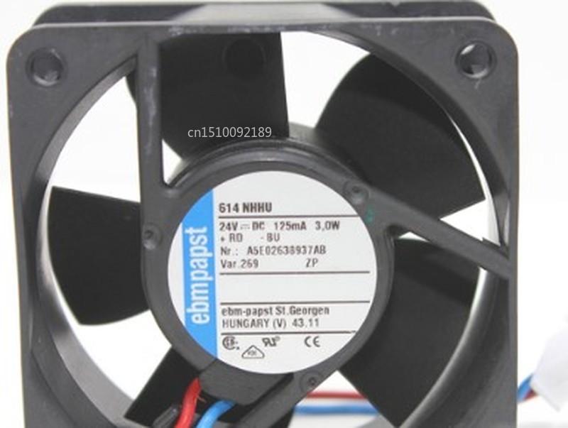 Pour Original 614NHHU 6025 24V 3.0W 60*60*25MM 2 fils haute vitesse instrument et compteur ventilateur livraison gratuite
