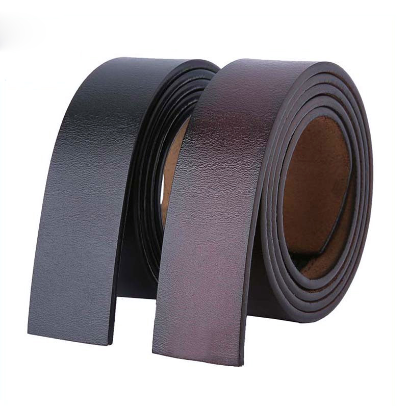 100 - 120 140 150 160cm Cowskin Belts Without Buckle 3.5cm Wide Real Genuine Leather Belt Body Men Large Size Belt No Buckle