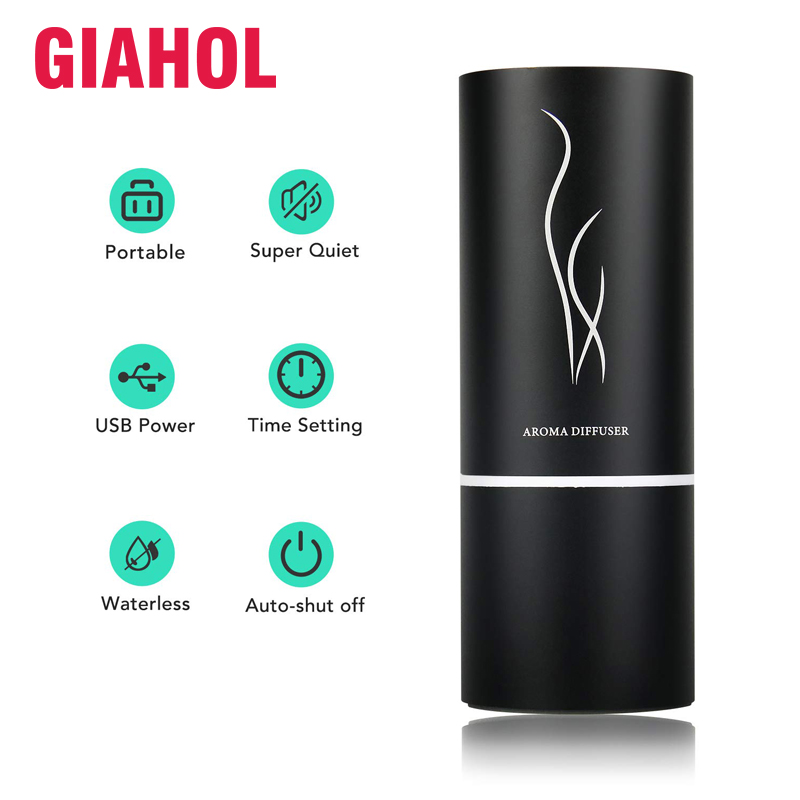 Waterless Oil Nebulizer Diffuser Air Purifier Mini Car Aroma Diffuser With Two Mode Rechargeable Portable Essential Oil Diffuser