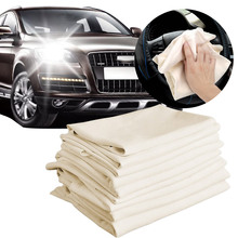 1Pc Auto Care Extra Large Car Motorcycle Natural Drying Chamois 4 Sizes Available Free Shape Cleaning Genuine Leather Cloth