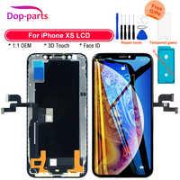 Lcd para iphone xs display 1:1 oem tela de toque com toque 3d digitador assembléia tft qualidade superior para iphone xs lcd substituição