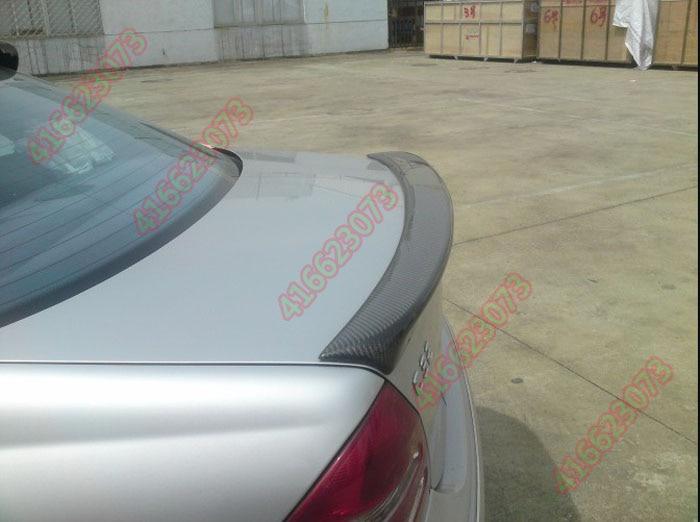 Подходит для Mercedes Benz C W203 C180 200 220 240 270 углеродного волокна задний спойлер заднее крыло