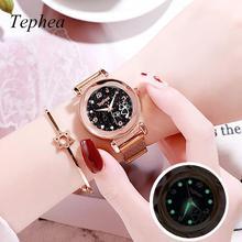 Luxury Watches For Women Brands Luminous Stainless Steel Quartz Watch Creative Flower Dial Ladies Hot Sale Montres