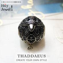 Perles faucon en forme d'aigle, en zircon argenté, pour Bracelet, Bracelet, Bracelet, collier, breloques, accessoires de bijoux européens