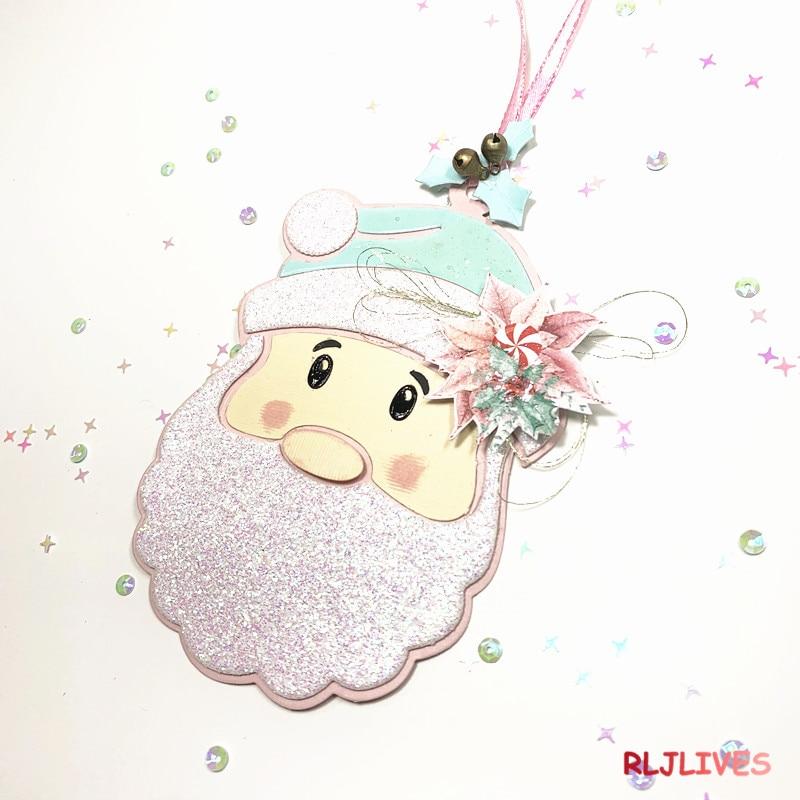 Рождество Санта лицо металлические трафареты для пресс-формы для DIY Скрапбукинг фото украшение для альбома тиснение бумажные карточки ручной работы