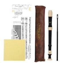 ИРИН Abs рекордер кларнет сопрано длинная флейта барокко рекордер Fingering музыкальный инструмент Аксессуары для начинающих(черный
