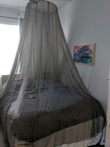 Cubierta de protección con protección contra la radiación de fibra astilla protección funcional emf mosquitera para cama king size