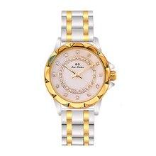 Diamentowy zegarek damski luksusowa marka 2019 Rhinestone eleganckie damskie zegarki różany złoty zegar zegarki dla kobiet relogio feminino