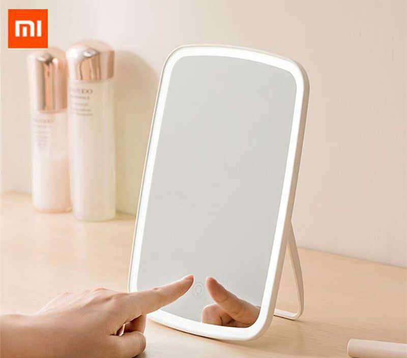 Xiaomi Mijia LED איפור מראה שליטה רגיש למגע LED טבעי אור למלא מתכוונן זווית בהירות אורות ארוך סוללה li