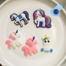 Shoe Charm Backpack Unicorn Rainbow Shoes-Accessories Wristbands Animal-Horse Kids Cartoon