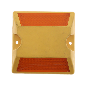 Road Highway Pavement Reflective Marker Reflector - (Yellow) image