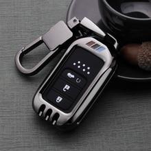 De Metal funda de control remoto de coche cubierta bolso para HONDA Accord funda de cobertura de mando a distancia 9 10 cívica 10 Ajuste Jazz 4 GK 5 CRV 5 HRV Vezel de GM