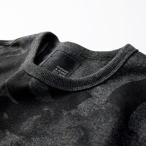 Image 5 - KUEGOU 2020 Herbst Baumwolle Schwarz Druck Brief Sweatshirts Männer Mode Japanischen Street Hip Hop Männlichen Tragen Kleidung Top 4996