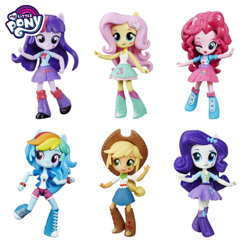Original My Little Pony Fashion Celestia Joints Move Rainbow Dash PVC Action Anime Figure Model Dolls Toys For Children Bonecas