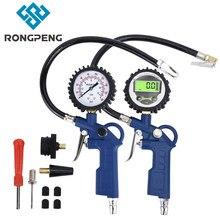 RONGPENG Car Air Tire Pressure Gauge LCD Display Digital Pressure Gauge Inflator Gun Manometer For Auto Motorcycle