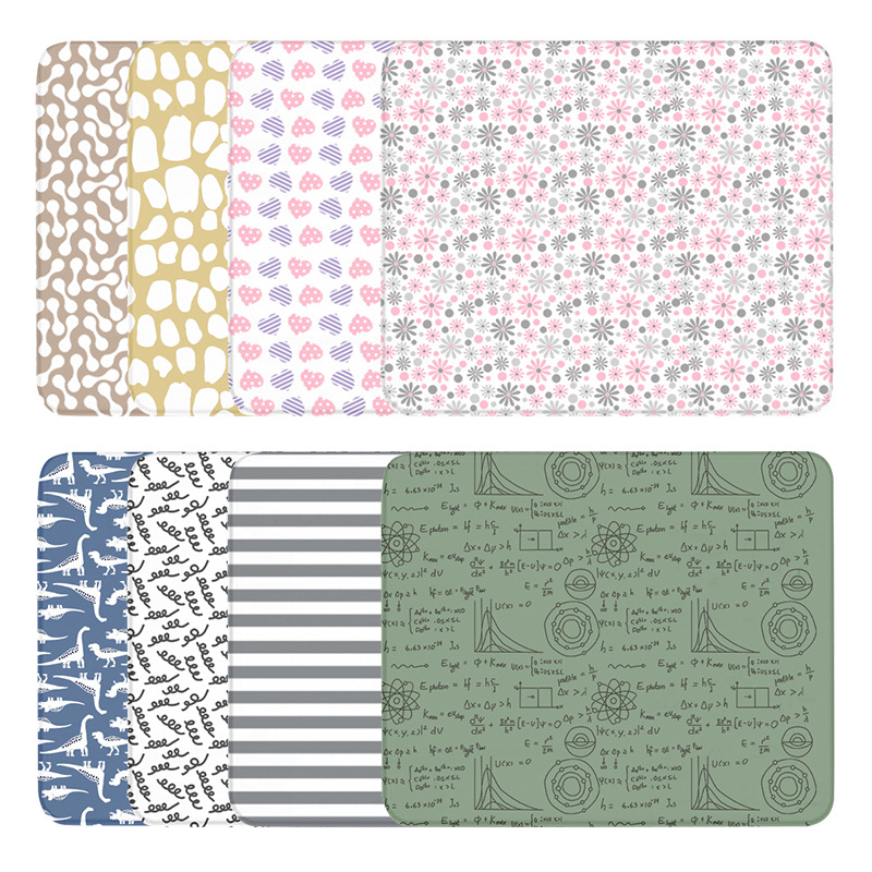 Baby waterproof changing pad, children's changing pad, waterproof changing pad, <font><b>120*70</b></font> full printing baby changing pad mattress image