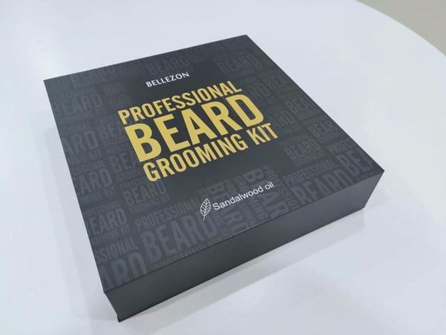 Blue ZOO 8Pcs/set Men Beard Care Kit Beard Shaving Cream Aftershave Cleaning Care Nourishing Shaping Male Beard Care Set 6