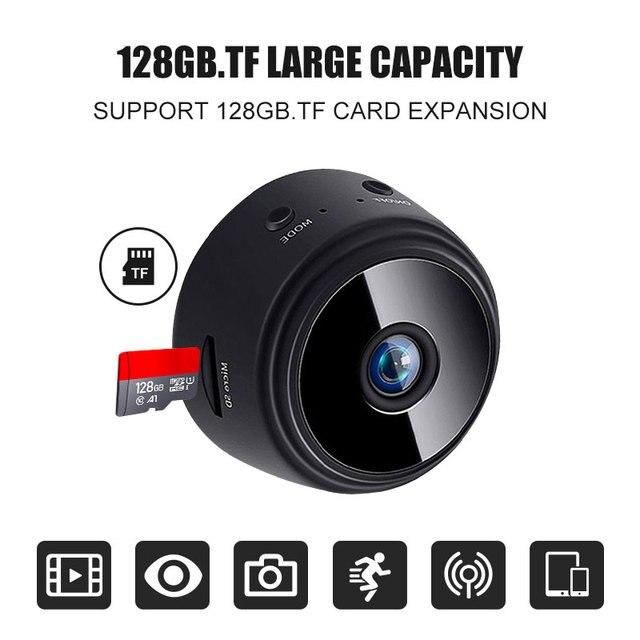720P HD Mini caméra sans fil Wifi sécurité caméscope télécommande Surveillance DVR nuit Regard caché caméra de détection Mobile