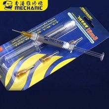Паяльная паста Mechanic iSm5, шприц с особой точкой для ремонта, 3 мл, заполнение отпечатком пальца