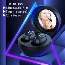 цена на Wireless Bluetooth Earphone LB-10 Bluetooth Headset In-ear With Microphone mirror Sport Stereo Earbuds For xiaomi huawei iphone